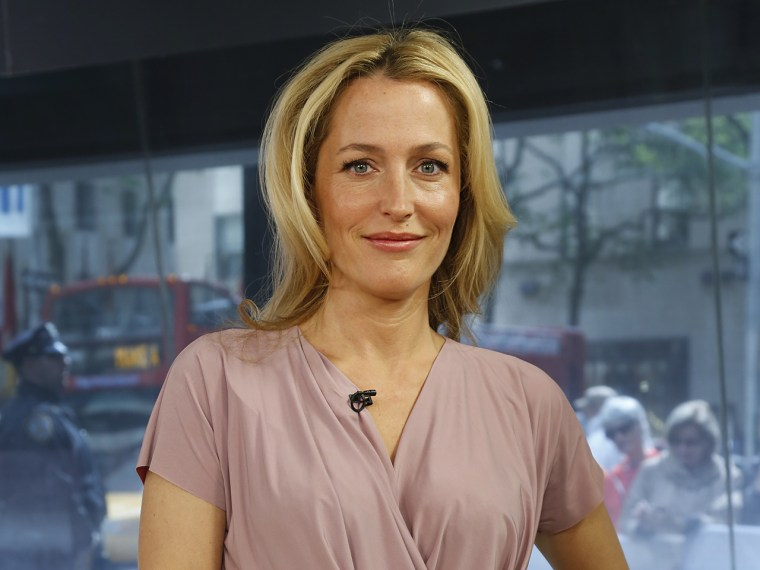 Gillian Anderson Monday, May 13, 2013, in New York, N.Y. (Rebecca Davis / TODAY)