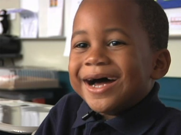 New Jersey kindergartner Nathaniel Dancy Jr., 5, was able to help save his father's life by knowing the alphabet well enough to spell out the name of a nearby store after his father suffered a stroke while driving.