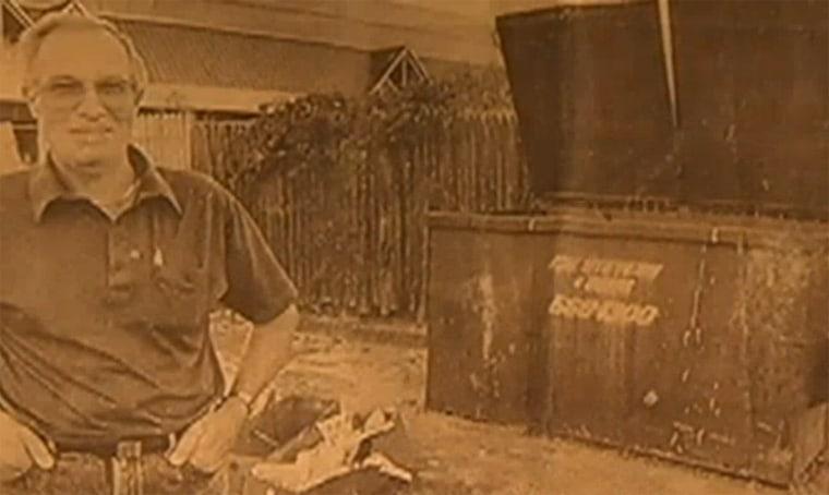Image: Thomas Stephenson near Dumpster in 1989