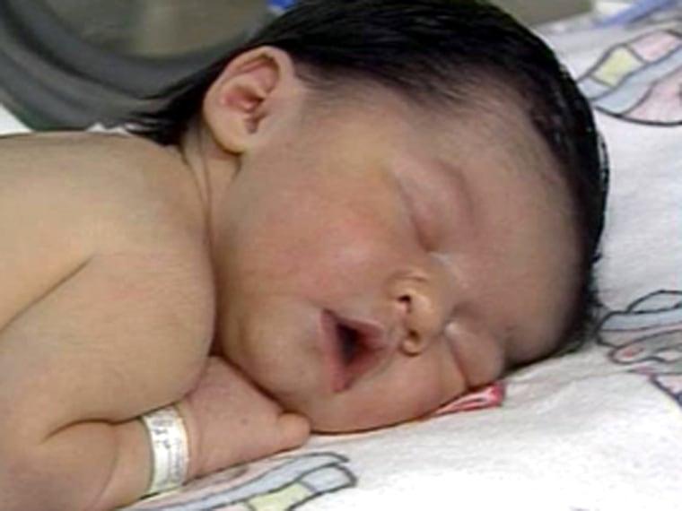 Image: Rachael Clark as a sleeping infant
