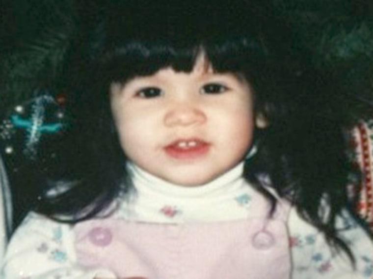 Image: Rachael Clark as a toddler