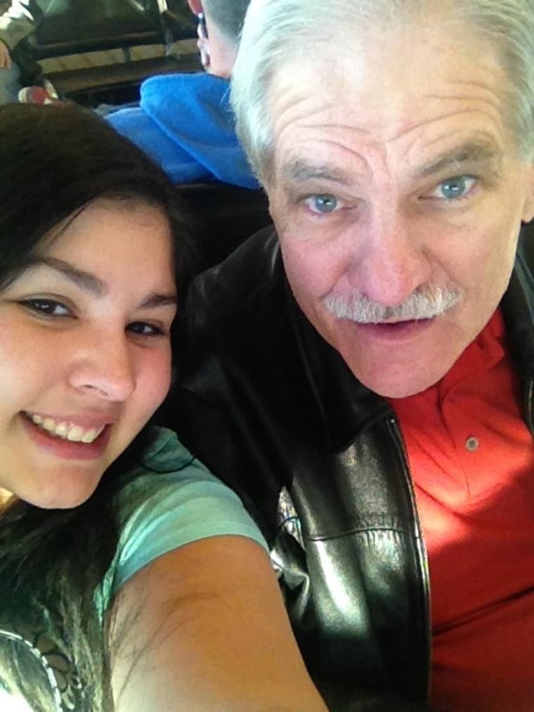 Image: Daughter Rachael Clark and father Dane Clark