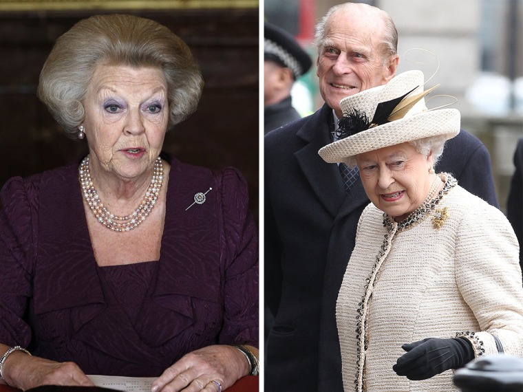 Image: Princess Beatrix and Queen Elizabeth II