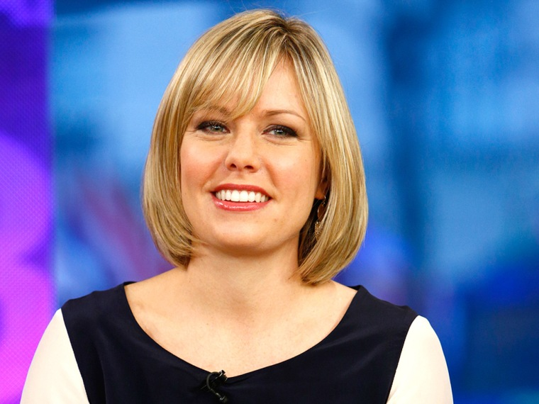 """TODAY -- Pictured: Dylan Dreyer appears on NBC News' """"Today"""" show -- (Photo by: Peter Kramer/NBC/NBC NewsWire)"""
