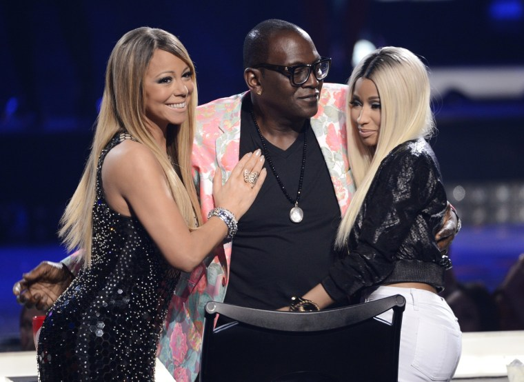 Mariah Carey, Randy Jackson and Nicki Minaj.