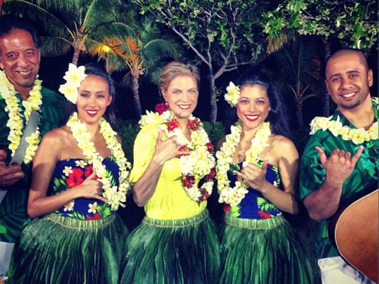 Natalie hulas in Hawaii.