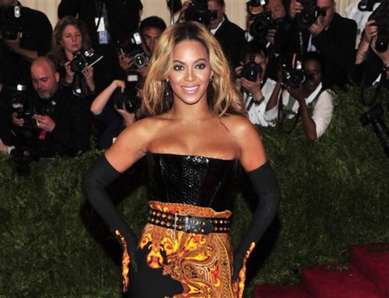 Beyonce at The Metropolitan Museum of Art's Costume Institute benefit.
