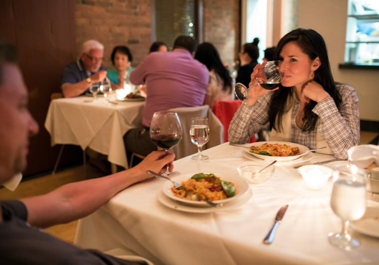 Image: Diners have alcohol with their dinner at Paci Restaurant in Southport, Conn.