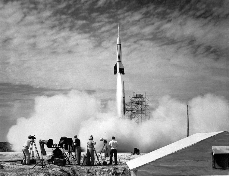 After World War II, the United States acquired some of Germany's V-2 missiles for rocket tests. This modified V-2 was fired from Cape Canaveral, Fla., on July 24, 1950. Only six Mittelwerk GmbH V-2 rockets remain in the United States, and software billionaire Paul Allen procured one of them for his Flying Heritage Collection.