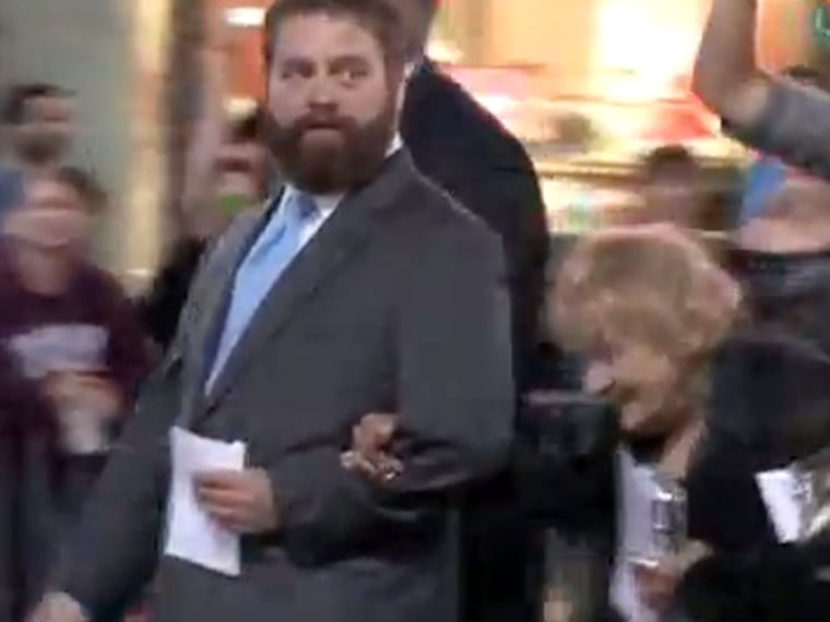 Zach Galifianakis pays rent for formerly homeless woman