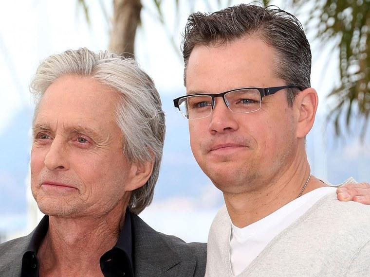Image: Matt Damon and Michael Douglas