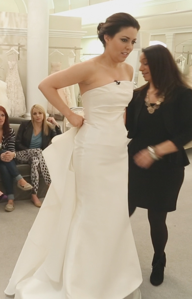 TODAY style editor Bobbie Thomas in the winning wedding gown.