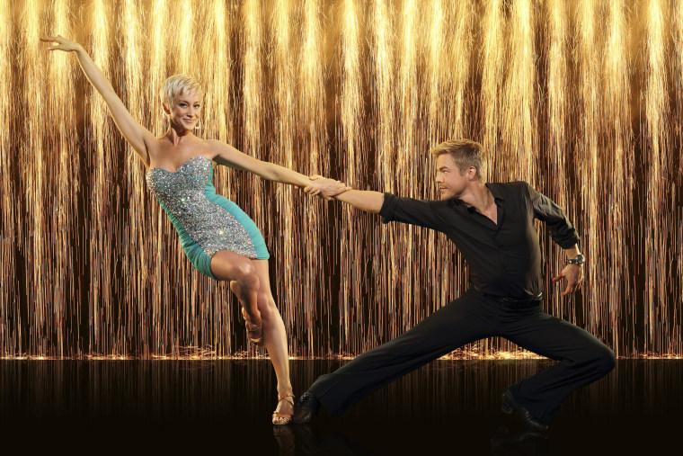 "Kellie Pickler and her \""Dancing With the Stars\"" pro partner, Derek Hough."