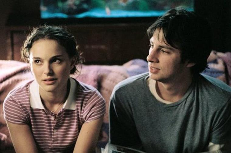 Zach Braff and Natalie Portman in the 2004 indie film