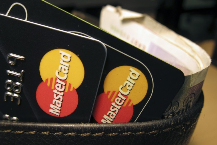 MasterCard credit cards are seen in this illustrative photograph taken in London December 8, 2010.