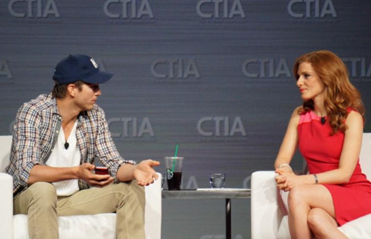 Ashton Kutcher speaks at the CTIA trade show in Las Vegas in May, 2013.
