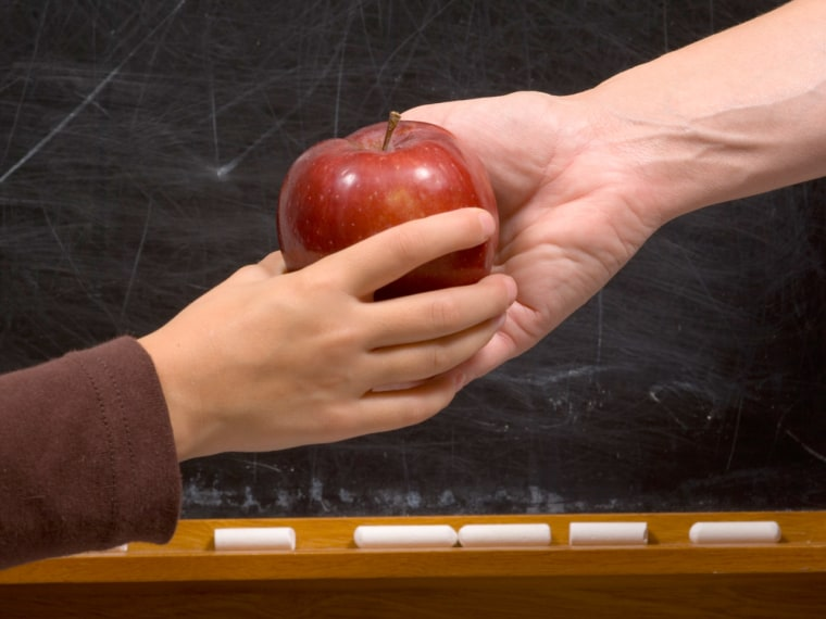 When it comes to gifts, teachers will tell you: Avoid the apple!