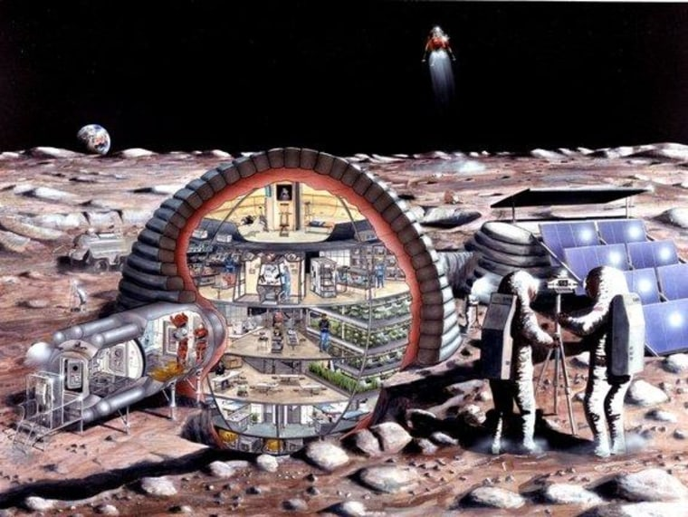 Pit stop, the moon! Lunar extraction of minerals and ice are envisioned as near-term objectives for space mining advocates