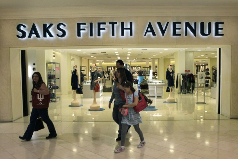 In this Feb. 20, 2011 photo, the outside of a Saks Fifth Avenue store is shown in Dallas.