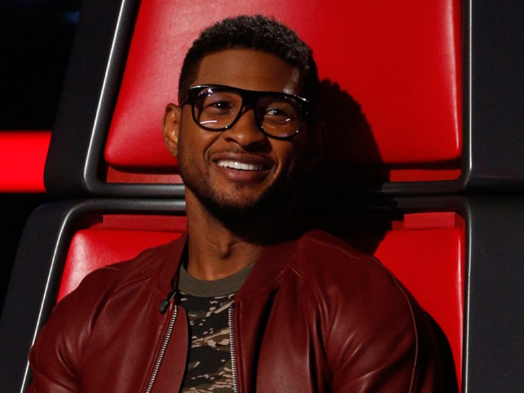 Usher hopes glasses help voters see Michelle's talent