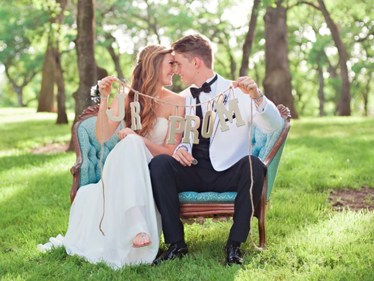 Lauren Young and Ben Jenette of Sacramento, Calif., had professional photographs taken for their prom.
