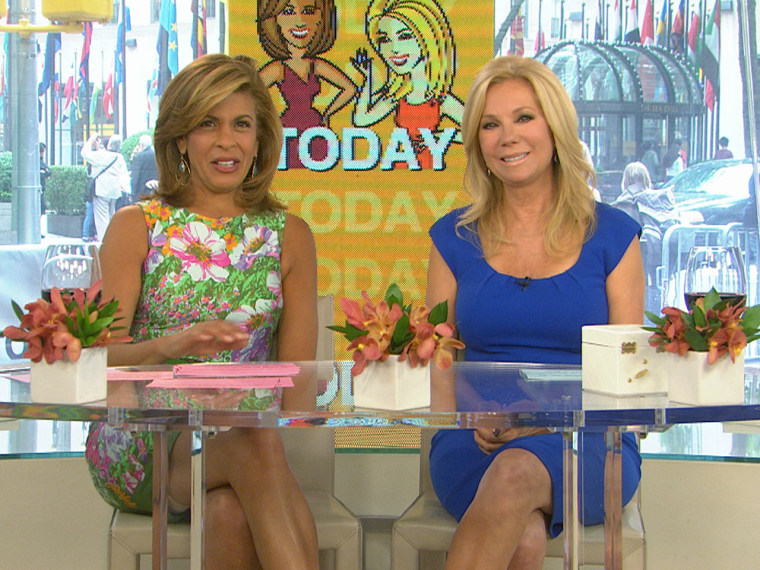 The ladies chat about the hot topics of the day.