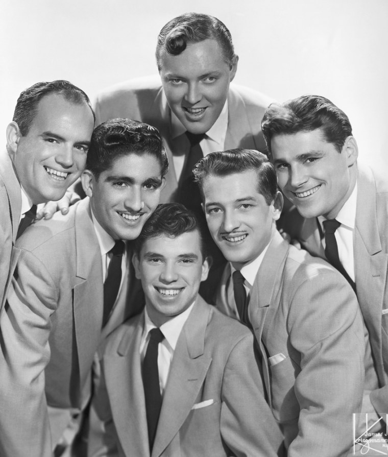 Bill Haley and His Comets: Joey D'Ambrose, Johnny Grande, Billy Willamson, Bill Haley, Marshall Lytle, Dick Richards.