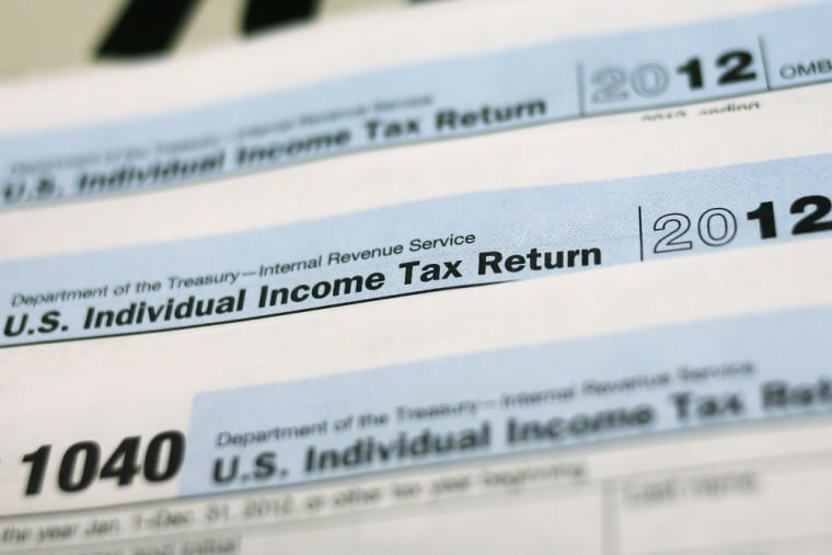 U.S. 1040 Individual Income Tax forms are seen in New York March 18, 2013.