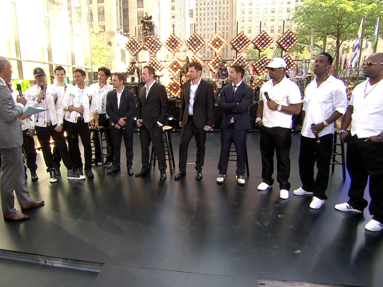 New Kids on the Block, 98 Degrees, Boyz II Men.