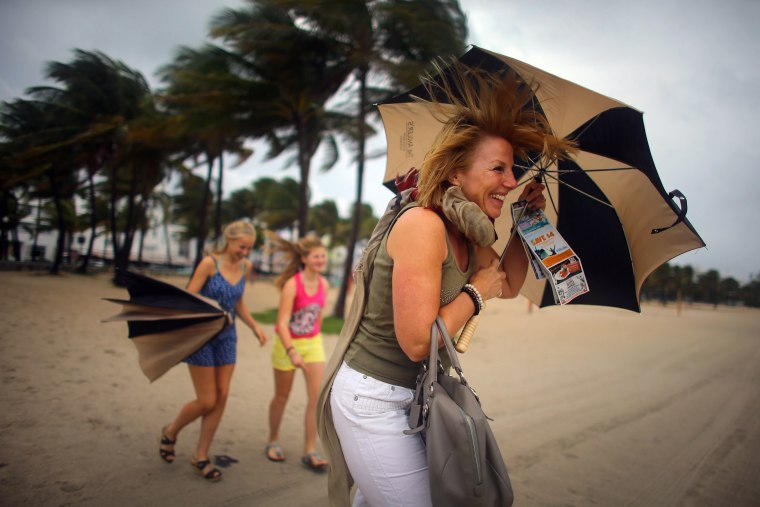 Hurricane hits vacationers