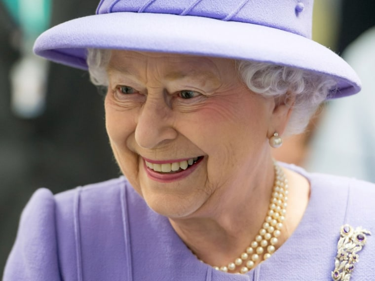 Britain's Queen Elizabeth is seen touring the Royal London Hospital in east London in this February 27, 2013 file photograph. The Queen has cancelled ...
