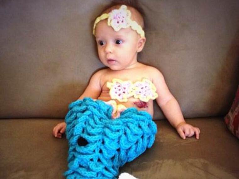 Jenna Wolfe's baby Harper on her first Halloween