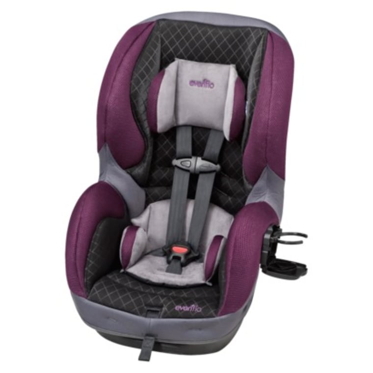 The Evenflo SureRide DLX has six harness heights and two buckle positions, along with a machine-washable seat pad.