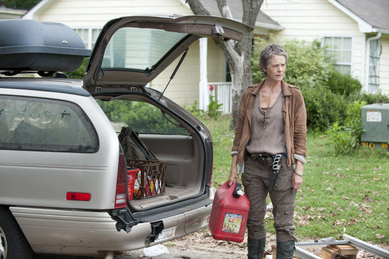 "Carol (Melissa McBride) has to live with Rick's (Andrew Lincoln) decision on ""The Walking Dead."""