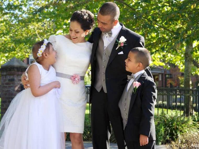 Alejandra and Saul Olivera with kids Miranda and Diego.