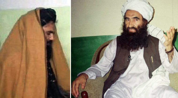 Sirajuddin Haqqani, left, leads the Haqqani network, having taken over from his father, the now-retired Jalaluddin Haqqani, right.
