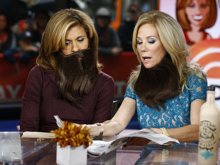 Hoda and Kathie Lee showed off some facial hair of their own in honor of #NoShaveNovember.