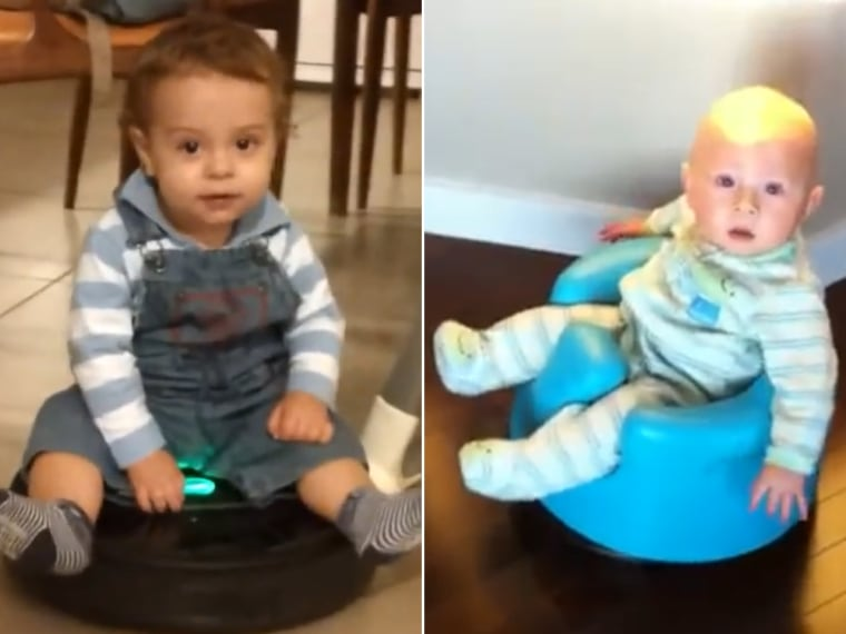 Cuteness overload! The latest, adorable video is babies riding Roombas.