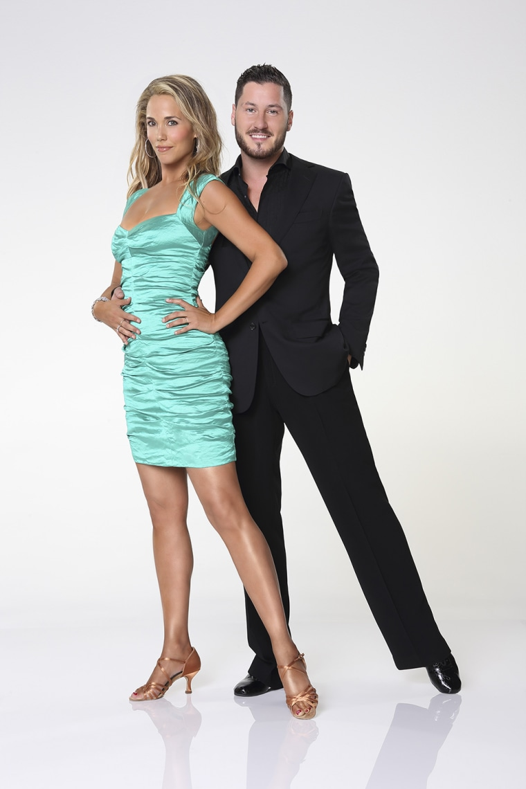 Image: Elizabeth Berkley and Val Chmerkovskiy.