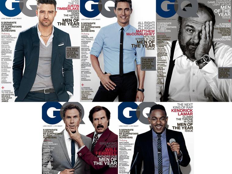 Image: Justin Timberlake, Matthew McConaughey, James Gandolfini, Will Ferrell, Kendrick Lamar