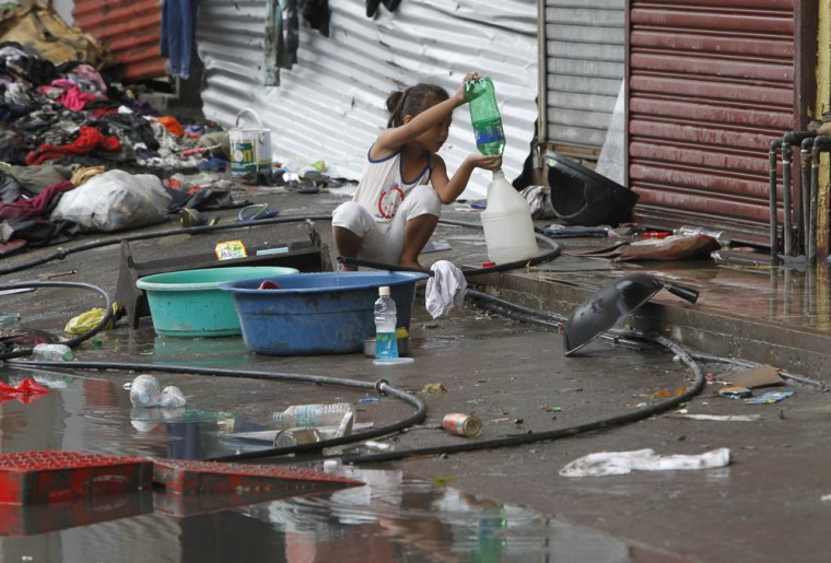 'Endless path of misery:' Typhoon aid workers rush to restore vital water supplies