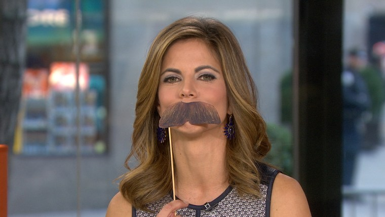 Natalie sports her top 'stache.