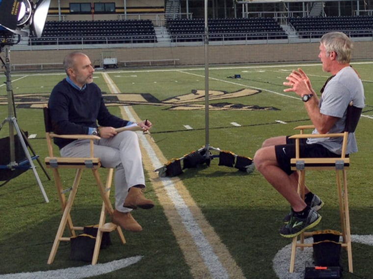 Matt Lauer's interview with Brett Favre will air on TODAY Monday.
