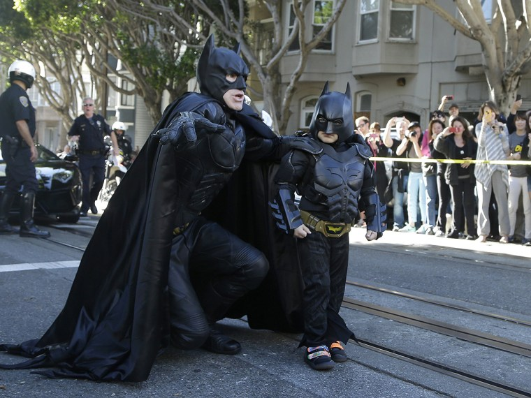 Holy Batkid! 5-year-old cancer patient's wish comes true as he 'rescues' San Franciscans