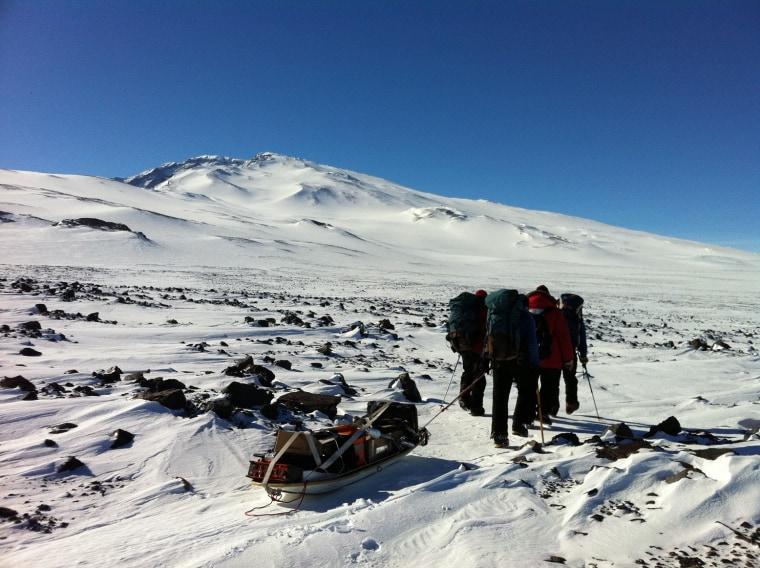 Image of team members in Antarctica