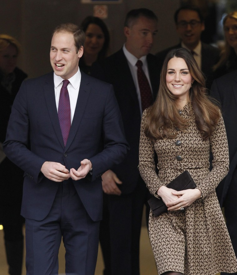 The Duke and Duchess of Cambridge visit the crime prevention charity 'Only Connect' in London.