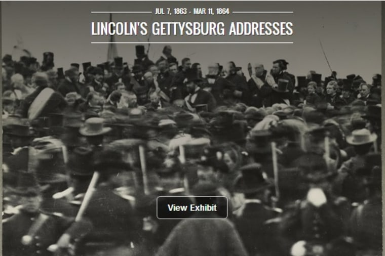 The Google Cultural Institute put five versions of the Gettysburg Address online.