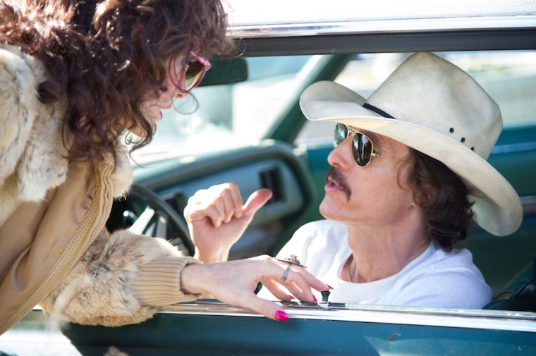 "Matthew McConaughey and Jared Leto in ""Dallas Buyers Club."""