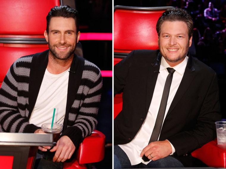 Image: Adam Levine and Blake Shelton on The Voice