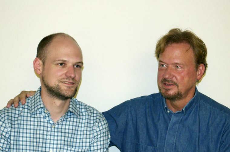 The Rev. Frank Schaefer, right, and his son Tim.